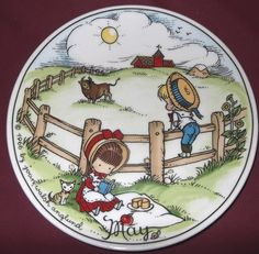 Joan Walsh Anglund plate - May - My big made me a clipboard with this on it. I loved it.