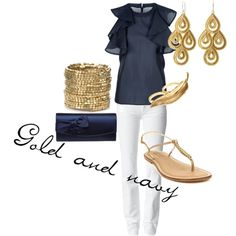 Pretty navy and gold