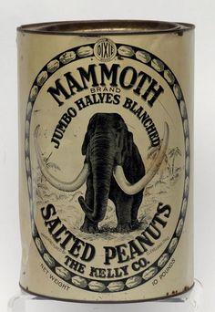 Dixie Brand Mammoth Jumbo Salted Peanuts Tin : Lot 100