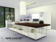 INSPIRE Kitchen Set by k-omu at TSR via Sims 4 Updates