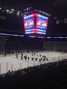 Team USA practice Nationwide Arena hockey practice WCOH 2016