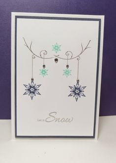 Funky Fossil Designs: Time Out Challenge #20 Uniko Studio Stunning Snowflakes