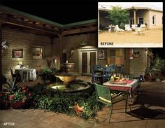 Before and Afters tell such a story! Desert landscaping: taking dirt to outdoor living :-)