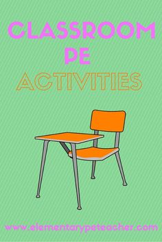 Classroom PE activities that can be used in classrooms, lunchrooms or other small & confined spaces. Pe Lesson Plans, Physical Education Lesson Plans, Elementary Physical Education, Health And Physical Education, Science Education, Health Class, Pe Activities, Classroom Activities, Classroom Ideas