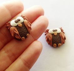 Polymer Clay Owl, Polymer Applique, via Flickr.