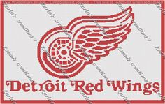 Red Wings Crochet Graph by KarlasCreationsGraph on Etsy