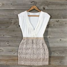 Tucked Lace Dress, Sweet Women's Country Clothing. WANT!