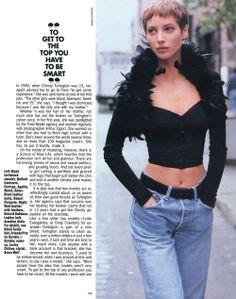 """Christy Turlington Real And Ideal"", Elle US, August 1990 Photographer : Pamela Hanson Model : Christy Turlington"