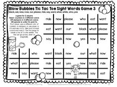 A sight word game for First Grade Dolch Sight Words - use pencils or bingo markers to play - Sight Words Games First Grade by Games 4 Learning First Grade Sight Words, Dolch Sight Words, Sight Word Games, Second Grade, Literacy Games, Phonics Games, Reading Games, Learn To Read, Teaching Ideas