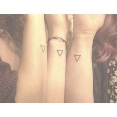 Friendship Triangle Tattoos On Wrists For Girls