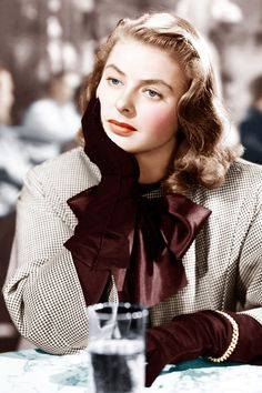 """How To Dress Like A Hitchcock Heroine  #refinery29  http://www.refinery29.com/2013/08/51471/hitchcock-blondes-fashion#slide1  Ingrid Bergman as """"Alicia Huberman"""" in Notorious."""