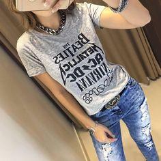T Shirt Rocks Mescla   Disponível para #Atacado e #Varejo - Seja uma revendedora.  @estacaostore_atacado   Compras on line:  www.estacaodamodastore.com.br
