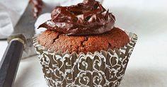Рецепт Louise chocolate hazelnut cupcakes with avocado icing Sugar Free Chocolate Cake, Decadent Chocolate Cake, Gluten Free Chocolate, Chocolate Hazelnut, Healthy Muffin Recipes, Yummy Healthy Snacks, Healthy Cake, Healthy Baking, Low Calorie Cake