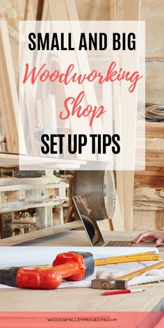 Check out these must have tips for setting up woodworking shop including organization ideas, workshop layout, workbenches and essential tools. Advice on small and big workshops setup, setting up a woodworking shop in garage, basement or shed plus how to build workshop from scratch. #settingupwoodworkingshop #woodworkingshoporganizationideas #workshopsetupideas Woodworking Workshop Layout, Woodworking Power Tools, Beginner Woodworking Projects, Woodworking Shop, Woodworking Crafts, Wooden Pallet Projects, Wooden Pallets, Shops, Wood Working For Beginners