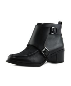 ANNE KLEIN | Anne Klein Jeffrey   Round Toe Leather  Bootie #Shoes #Boots & Booties #ANNE KLEIN