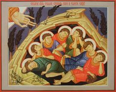 Seven Sleepers of Efesos Church Interior, Best Icons, Orthodox Icons, Sacred Art, Christian Art, Holi, Saints, Princess Zelda, Icon Book