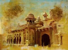 Pakistan Painting - Aitchison College by Catf Simple Canvas Paintings, Diy Canvas Art, Wood Paintings, Landscape Drawings, Landscape Paintings, Hd Wallpapers 1080p, Blur Photo Background, Watercolor Architecture, Doodle Art Drawing