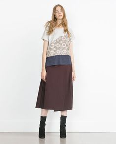 ZARA - WOMAN - JACQUARD TOP