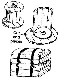 Cable Spool Trunk and lots of other tips on this site. (trunk is towards the middle of the page)
