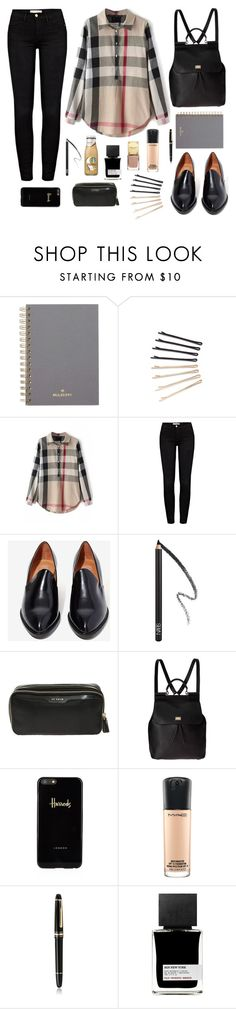 New college by sullamaria on Polyvore featuring Frame Denim, Jeffrey Campbell, Dolce&Gabbana, Harrods, ban.do, MAC Cosmetics, NARS Cosmetics, MiN New York, Anya Hindmarch and Mulberry