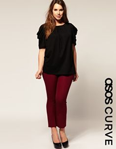 ASOS CURVE Cropped Kickflare Pants  $69.84