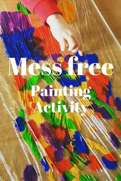Take a look at this mess free painting activity. It is quick and easy to set up. Take a look at my blog to see how to set it up. Sensory play activity for children.