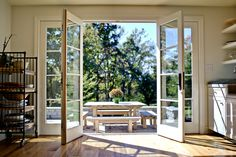 A beautiful house is not only making everyone in the house feel comfortable but also feel secure. One of the most important part of a beautiful house is the design. The design of . Read MoreDIY Double Doors a.a French Doors Ideas House Design, House, Home, Interior Barn Doors, House Doors, Doors Interior, Exterior Doors, French Doors Patio, Installing French Doors