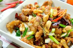 recept Kung Pao Chicken, Blog, Chinese, Ethnic Recipes, Treats, Chinese Cuisine, Chinese Food, Side Dishes, Cook
