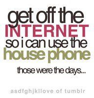 Social media humor...these were the days...and it wasn't even that long ago!