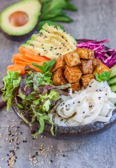 banh mi bowls with sticky tofu