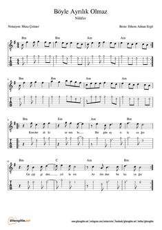 Boyle Ayrilik Olmaz Gitar Nota Tab Gitaregitim Net Gitar Sarkilar