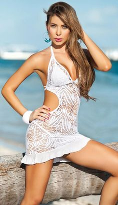 95b4989ce55b Crochet Bikini Cover Up | fashjourney.com Bikini Cover Up, Swimsuit Cover,  Lace