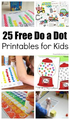 25 Free Do A Dot Printables For Kids - Great for fine motor skills and learning about the alphabet, numbers, and themes