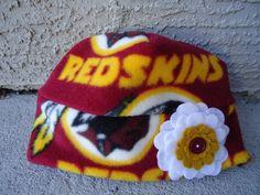 Adult women Newborn Baby Girls,Children Washington Redskins Fleece Flower Hat