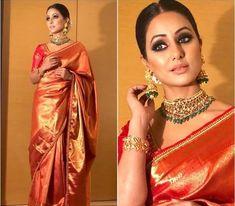 Love the eye makeup Sarees in 2019 Banarsi saree, Saree eye makeup for yellow saree - Eye Makeup Banarsi Saree, Kanchipuram Saree, Lehenga, Kanjivaram Sarees, Sabyasachi Sarees, Saree Blouse Patterns, Saree Blouse Designs, Indian Dresses, Indian Outfits