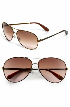 I've been looking for a pair of aviators to fit my small frame face and these metal aviators from Marc by Marc Jacobs in Gold Mirror are perfect! $98 at Nordstrom