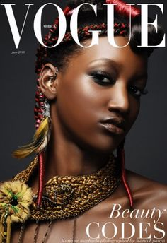 Should there be a Vogue Africa? Mario Epanya's bid to Condé Nast 2010 Vogue Magazine Covers, Fashion Magazine Cover, Fashion Cover, Vogue Covers, Grace Jones, Subtle Makeup, Natural Makeup, Natural Hair, Naomi Campbell