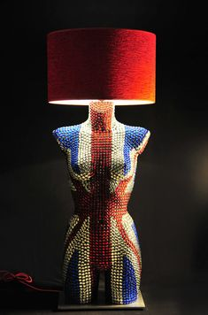 Mannequin Torso Floor Lamp with glass beads by MAGESTICmannequin