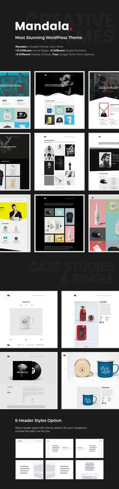 Mandala is most stunning portfolio WordPress theme. Suitable for portfolio, photography, freelancer, agency and other purposes. Mandala uses drag and drop page builder for built the page elements, make you easier to arrange your layout. This theme also served with extensive theme options.