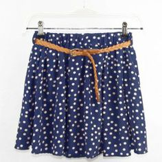 $6.22 Tiny Floral Print Pleated Ruffles Bouffant Chiffon Color Matching Skirt For Women