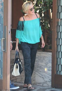 Basic (fashion) Instinct: Sharon Stone looked great for lunch at Cecconi's in West Hollywood on Wednesday