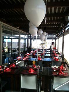 Globos helio, evento empresarial.  Multifiesta