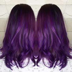 Grape Purple Hair Color Idea