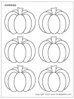 Great Pumpkin Printables In Various Sizes For Coloring And Cutting Template Printable