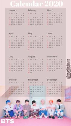 Most current Totally Free 2020 calendar wallpaper Suggestions It's true that will the latest chosen lifestyle development has produced individuals turn into als Bts Calendar, Print Calendar, Calendar 2020, Business Calendar, Pocket Calendar, Calendar Wallpaper, Bts Wallpaper, Foto Bts, Bts Photo