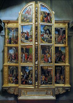 Silver altarpiece with the wings closed, panels by Georg Pencz, 1531-1538, Kaplica Zygmuntowska, commissioned by Sigismund I the Old