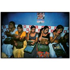 At six o'clock each afternoon the girls prepare for work.Falkland Road, Bombay, India. 1978 by Mary Ellen Mark