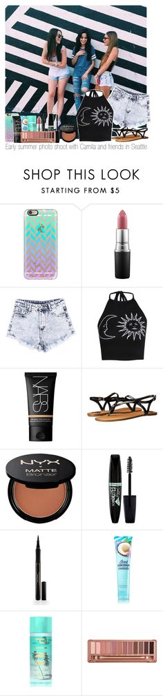 """""""Early summer photo shoot with Camila and friends in Seattle"""" by marissaackles997 ❤ liked on Polyvore featuring Casetify, MAC Cosmetics, Boohoo, NARS Cosmetics, Fergalicious, NYX, Rimmel, Elizabeth Arden, Victoria's Secret PINK and Urban Decay"""