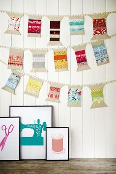 Cotton reel bunting by Fiona Calvert for Issue 17 of Love Patchwork & Quilting magazine