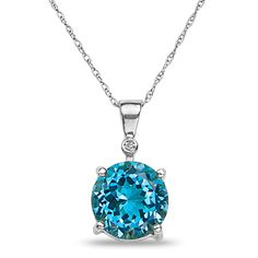 Ebay NissoniJewelry presents - .01CT Diamond Blue Topaz Pendnat in 10k White Gold    Model Number:CP-4999W055BT    http://www.ebay.com/itm/.01CT-Diamond-Blue-Topaz-Pendnat-in-10k-White-Gold/221630597019